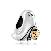 Uniqueen Sale Cheap Jack-o-lantern Weird Halloween Ghost Pumpkin Charm Beads Fit Pandora Bracelet Gifts