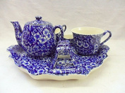 Limited edition blue victorian chintz breakfast set