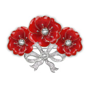 'Royal Bouquet' Poppy Brooch By The Bradford Exchange