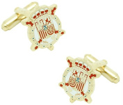 masgemelos - Cufflinks Coat of Arms Juan Carlos I Cufflinks