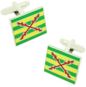 masgemelos - Cufflinks Flag Third of Lepanto Cufflinks