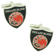 masgemelos - Cufflinks Game of Thrones House Targaryen Cufflinks