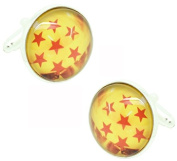 masgemelos - Twins Dragon Balls 7 Stars Cufflinks