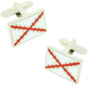 masgemelos - Cufflinks Flag Cross of Burgundy Cufflinks