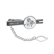 Parson Russell Terrier, tie pin, clip with an image of a dog, elegant and casual style