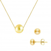 Pearls & Colours Women 9 k (375) Yellow gold Round Gold Pearl FINEOTHER