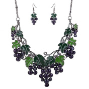 ANDAY Women Girls Sweet Fruits Alloy Earrings Necklace Jewellery Sets