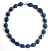 Necklace made of Lapis Lazuli Tais LASURIT Jewellery/Necklace Necklace in Blue, High Quality, . and Elegant. Beautiful Necklace made of Natural Stone Handmade Gemstone.