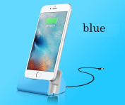 Charger Docking Stand Station Cradle Charging Sync Dock for iPhone 6 6S 6Plus 5S 5 5C 5se 7 7s - Blue