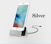 Charger Docking Stand Station Cradle Charging Sync Dock for iPhone 6 6S 6Plus 5S 5 5C 5se 7 7s - Silver