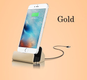Charger Docking Stand Station Cradle Charging Sync Dock for iPhone 6 6S 6Plus 5S 5 5C 5se 7 7s - Gold