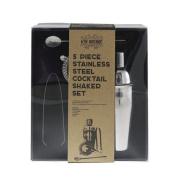 Ardisle 5pc Boston Cocktail Shaker Gift Set Mixer Making Bar Kit Stainless Steel Luxury