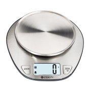 Etekcity 11lb/5kg Stainless Steel Digital Kitchen Food Scale, with Volumn Measurement Function, Auto Zero/Tare and Backlight LCD Display