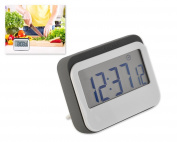 Magnetic Loud Alarm Digital 24 Hours Kitchen Timer / Clock with Large Screen - Grey