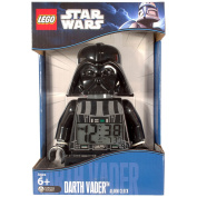 LEGO Star Wars Darth Vader Battery-Powered Alarm Clock with 12/24 Hour Display and a Backlight to View the Time at Night