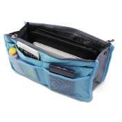 PsmGoods® Women's Handbag Organiser Liner Tidy Travel Cosmetic Pocket Insert 12 Pockets Large Make Up Organiser Bag