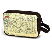 WW1 Trenches Map Wash Bag