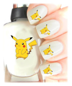 Easy to use, High Quality Nail Art Decal Stickers For Every Occasion! Ideal Christmas Present, Stocking Filler Pikachu