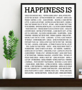 HAPPINESS IS . . POSTER - Motivational Quote Print Art Picture - Size A3 (420 x 297 mm) ...