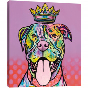 "Tree-Free Greetings 81187 29cm x 29cm ""King Rufus"" Themed Dean Russo Dog Art EcoArt Home Decor Wall Plaque"