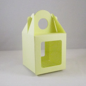 10 x Large Lemon Single Cupcake / Muffin / Fairy Cake Boxes With 2 Windows
