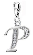 Silver Initial Charm with Lobster Clasp by BodyTrend - Buy any two alphabets and we will send you a Dreamcatcher charm value £10.95 FREE
