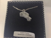 Morris Mini Cooper Mk1 Works Rally 3D PENDENT ON Silver Platinum Plated Necklace Handmade 46cm ref145