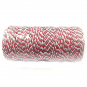 AllyDrew Cotton Baker's Twine 12ply 110 Yard, for Gift Wrapping, Party Decor, and Arts and Crafts, Red and Grey