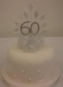 CAKE DECORATION DIAMOND 60th WEDDING ANNIVERSARY DIAMANTE CAKE TOPPER