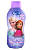 Disney Frozen Cherry Chill Bubble Bath 590ml + All in one Shampoo & Conditioner Shower Gel 410ml + Pro-Health Crest Toothpaste & Toothbrush plus a Complimentary Bath Sponge