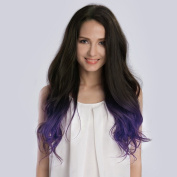 KINGHAIR® Ombre#1B/Violet Clip In Remy Hair Extensions