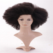 HairDancing Natural Looking Afro Kinky Curly Wigs For Black Women Best Indian Hair Glueless Lace Full Human Hair Wig 46cm