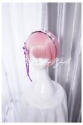 COSPLAZA Cosplay Wigs Re:Zero kara Hajimeru Isekai Seikatsu Ram Short Pink Anime Hair