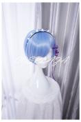 COSPLAZA Cosplay Wigs Re:Zero kara Hajimeru Isekai Seikatsu Rem Short Blue Anime Hair