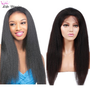 Life Diaries Kinky Yaki Straight Glueless Lace Wigs 8A Unprocessed Brazilian Virgin Human Hair Lace Wig For Women