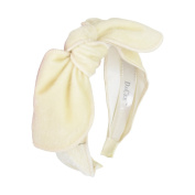 Cream Fur Bow Covered Headband