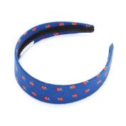 Girls Apple Print Headband - Deep Blue