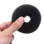 Foreveryang Women Girls Hair Styling Bun Elastic Headbands Donut Headwear Black