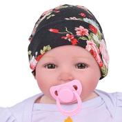 Binmer(TM) Newborn Hospital Hat Newborn Baby Hats With Flower Bowknot Flower Nursery Hat