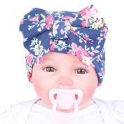 Binmer(TM) New Fashion Newborn Hospital Hat Newborn Baby Hats With Flower Bowknot Flower Hat
