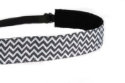 Mavi Bandz Adjustable Non-Slip Fitness Headband Chevron - Black