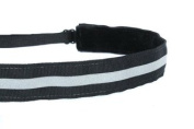 Mavi Bandz Adjustable Non-Slip Fitness Headband in Reflective Running - Black