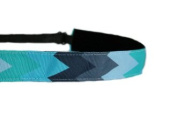 Mavi Bandz Adjustable Non-Slip Fitness Headband Multi Chevron - Multi Blue