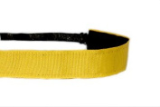 Mavi Bandz Adjustable Non-Slip Fitness Headband in Plain Jane - Yellow