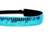 Mavi Bandz Adjustable Non-Slip Fitness Headband Sequin - Turquoise