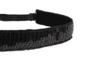Mavi Bandz Adjustable Non-Slip Fitness Headband Sequin - Black