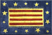 """""""Americana Style"""" - Stars & Stripes Theme - Patriotic Home Accent Mat / Rug - 100cm x 60cm - By Bacova Guild"""