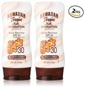 Hawaiian Tropic Sunscreen Silk Hydration Moisturising Broad Spectrum Sun Care Sunscreen Lotion - SPF 30, 180ml