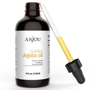 Jojoba Oil for Hair and Skin, 100% Pure Virgin Cold Pressed Unrefined Natural Jojoba Oil, 120ml, Best for Sensitive, Acne Prone & Dry Skin, Benefits Face and Hair