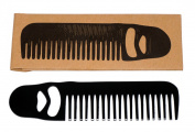 Ned Matte Black Bottle Opener Beard Comb
